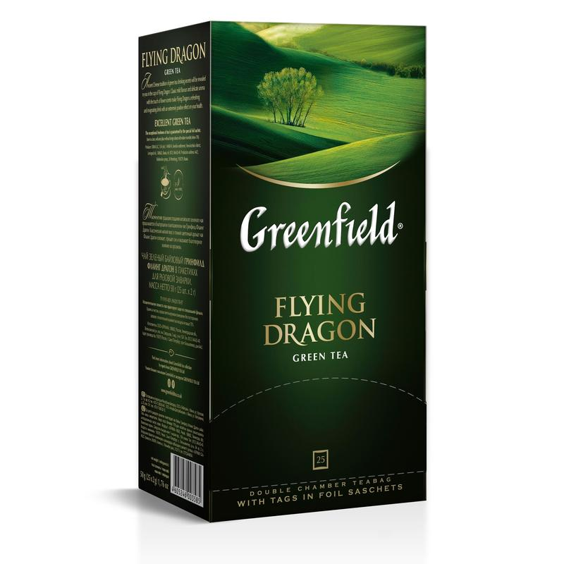 чай Greenfield flying Dragon зел 25пак фольг. 62623
