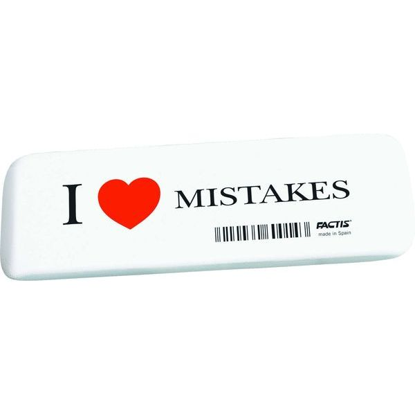 ластик FACTIS GE16 I LOVE MISTAKES