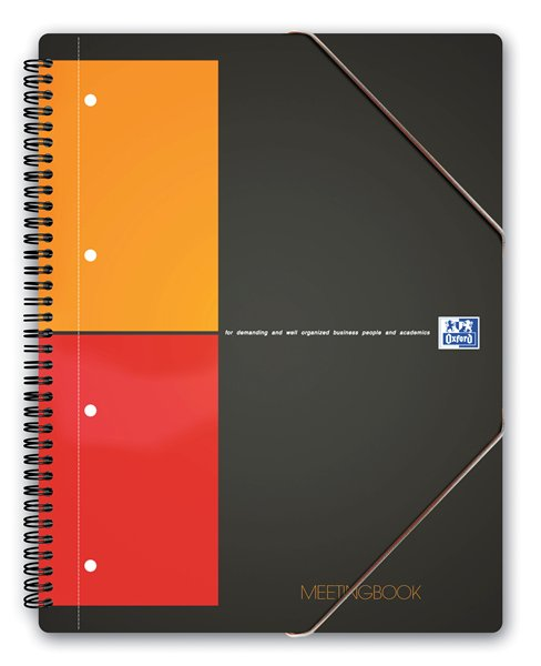 тетрадь А4 80л Oxford International MeetingBook клапан клетка 10010036