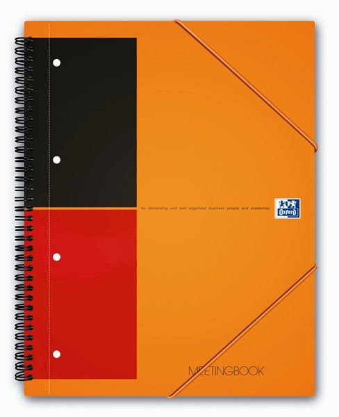 тетрадь А4 80л Oxford International MeetingBook клапан линия 10010429